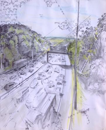9. Pope Lane crossing M6 looking south